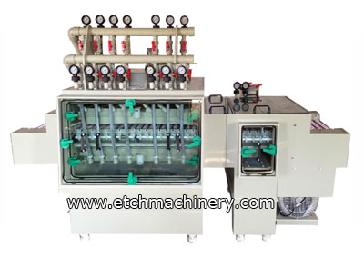 solder mask Stripping Machine with rinsing and drying